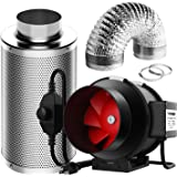 VIVOSUN 6 Inch 390 CFM Inline Fan with Speed Controller, 6 Inch Carbon Filter and 16 Feet of Ducting for Grow Tent…