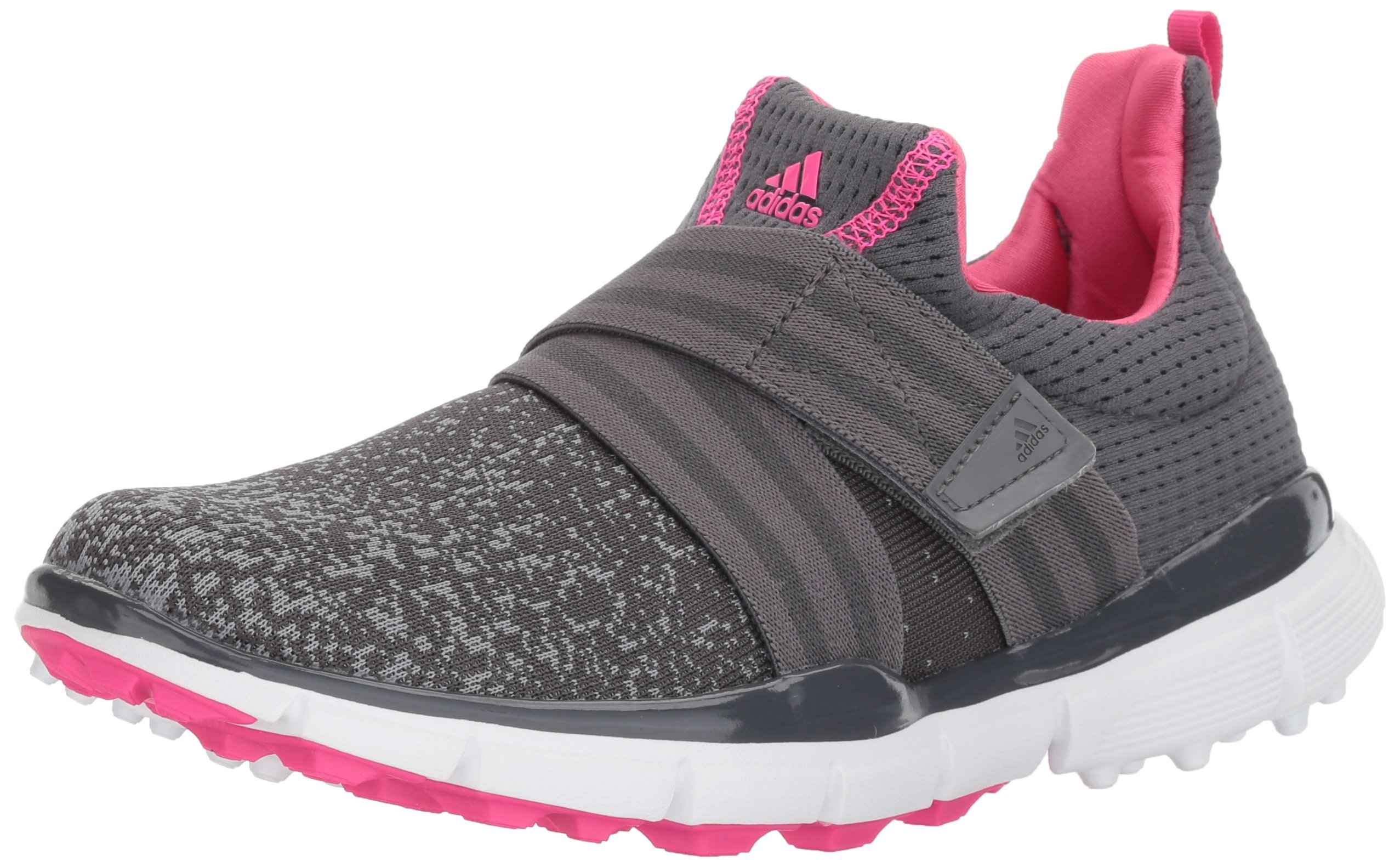 adidas Women's Climacool Knit Golf Shoe, Grey/Shock Pink, 7.5 M US by adidas