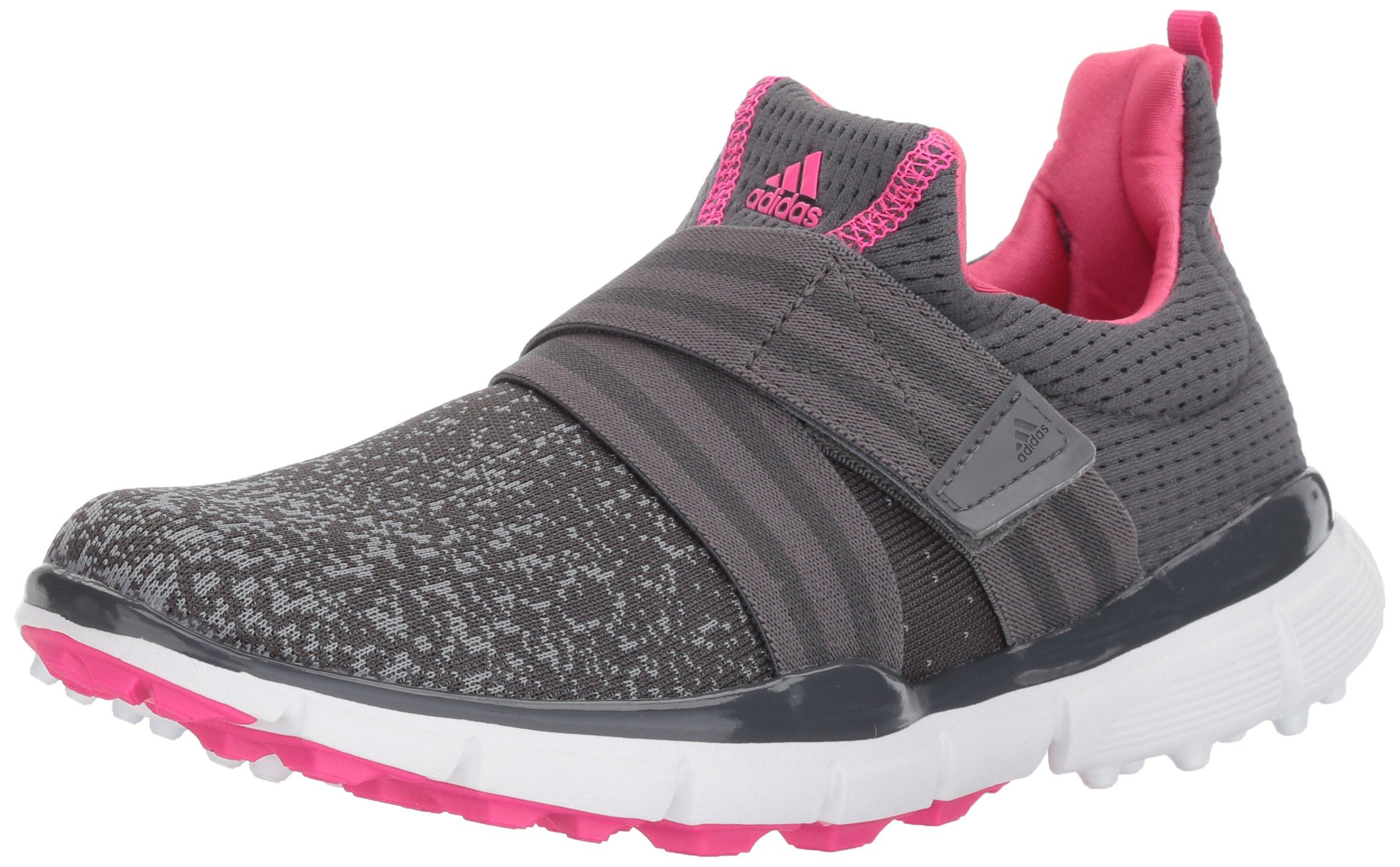 adidas Women's W Climacool Knit Golf Shoe, Grey Five Grey Four Shock Pink S, 10 M US by adidas