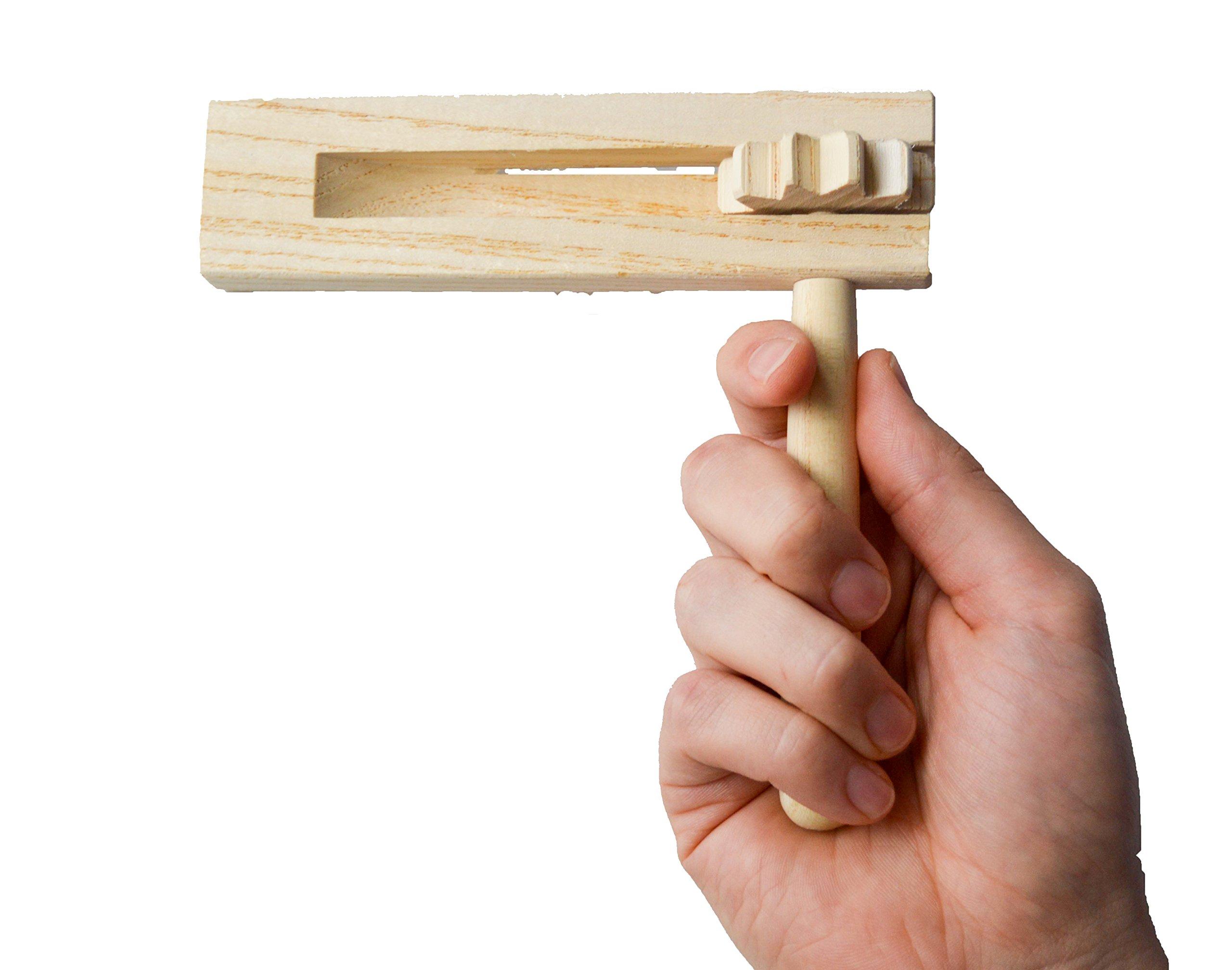 Wooden Games Noisemaker Grogger Matraca Rattle Ratchet Sports