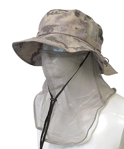 Headshots Sombrero de máscara antimosquitos con Malla para la Cara y Sombrero  de boonía para Hombres 69c476faa86e