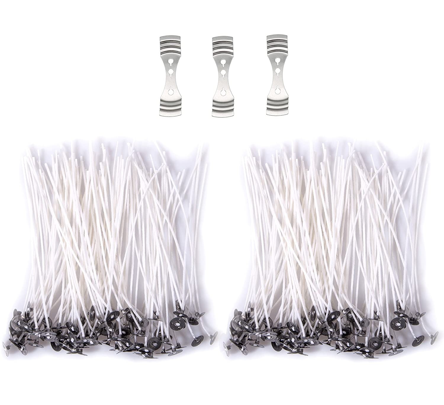 200 Pieces 6-Inch Low Smoke and Natural Candle Wicks with Tabs Dollshouse 4336841983