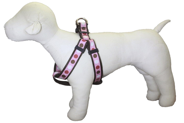 Medium Harness Paw Paws USA Valentine Pinky Tuscadero Dot Dog Harness, Medium, Multicolord