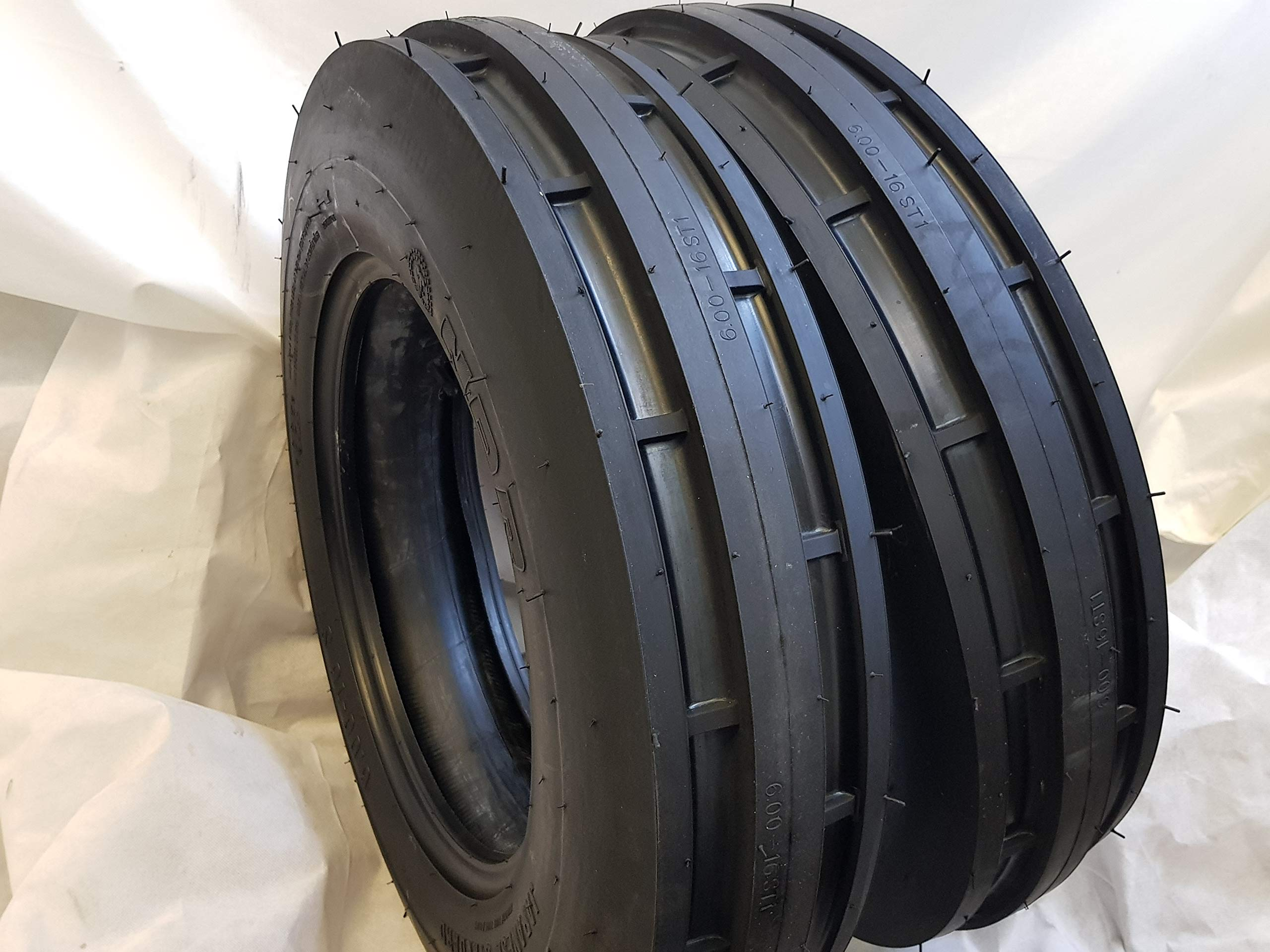 (2 TIRES + 2 TUBES) 6.00-16 8 PLY ROAD WARRIOR NDR ST-1 F2 3-Rib Farm Tractor Tire 6.00x16 by ROAD WARRIOR NDR (Image #3)