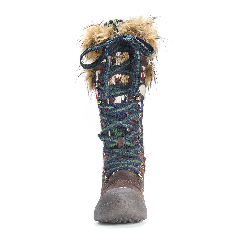 MUK LUKS Women's Gwen Snow Boot B01K8VY5BA 9 B(M) US|Dark Brown