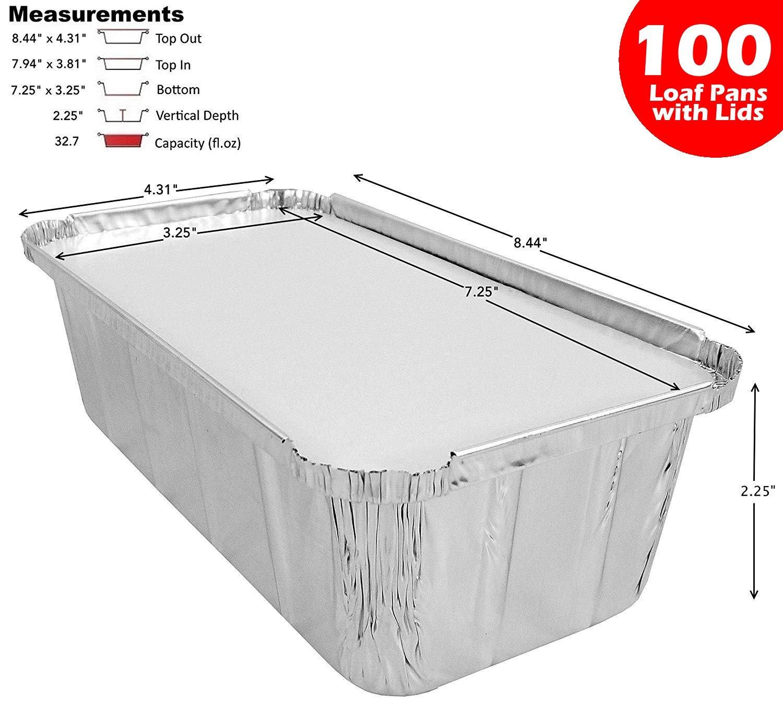 D&W Fine Pack Wilkinson A86 2 lb. Aluminum Foil Loaf/Bread Pan Tins w/Foil Board Lid 100 Sets (pack of 100)