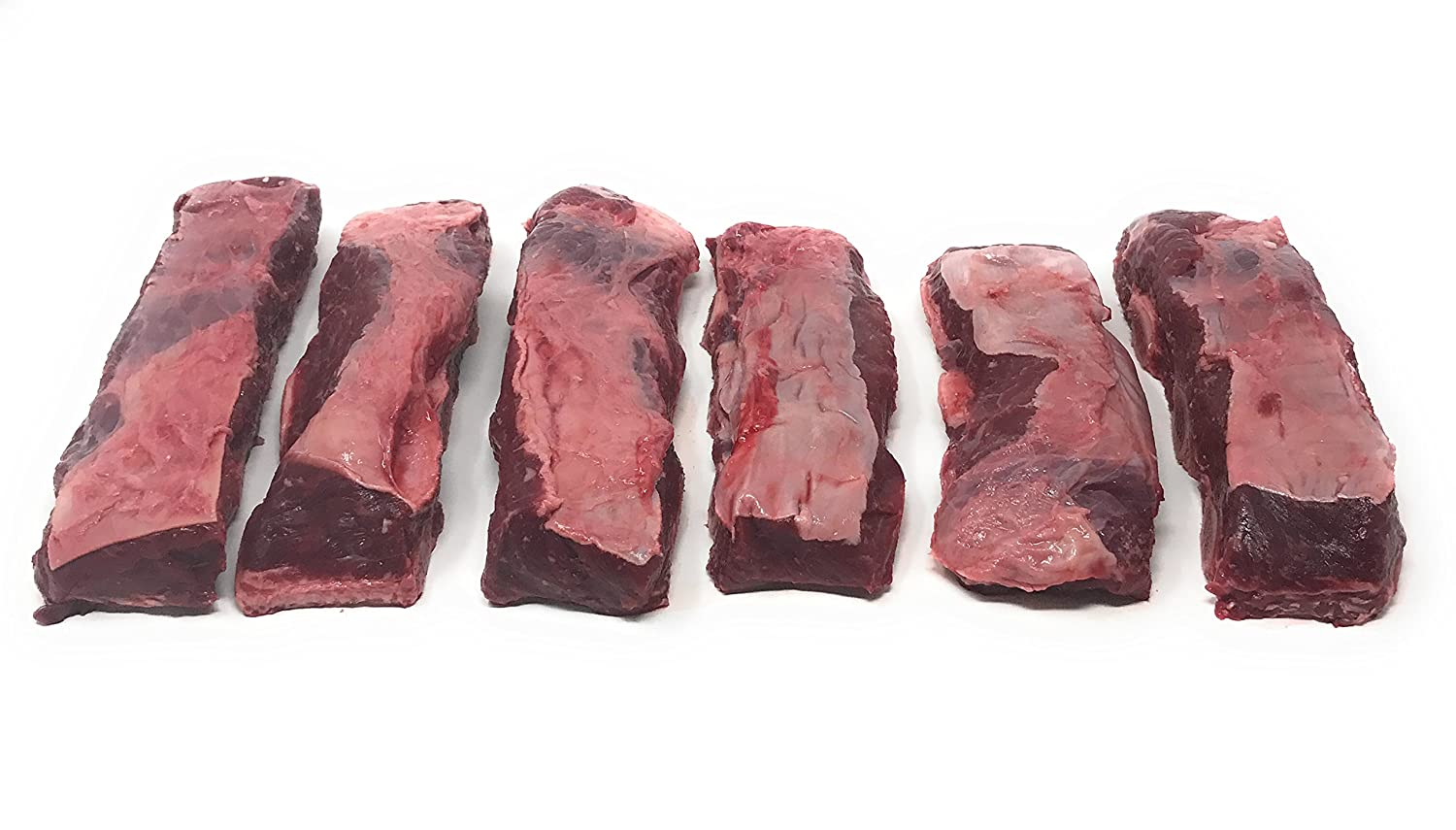 Bison Bone-In Short Ribs: 100% All-Natural, Grass-Fed and Grain Finished North American Buffalo Meat with no Growth Hormones or Antibiotics - USDA Tested - 6 Pieces, Total 5 lbs. of Flavorful Meat
