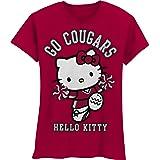 NCAA Washington State Cougars Hello Kitty Pom Pom Girls' Crew Tee Shirt
