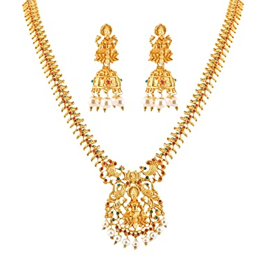 Buy Meenaz Traditional South Indian Temple One Gram Gold Forming