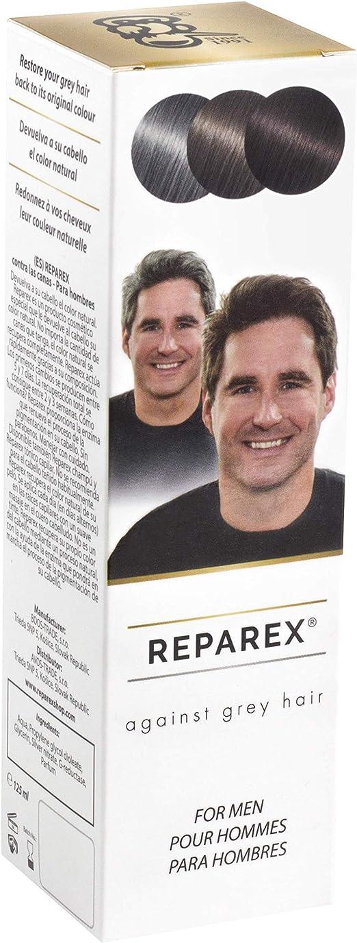 Reparex contra canas - Tratamiento de las raíces y el cabello de color gris - Mejor que el champú o tinte de pelo - No más colorantes de cabello ...