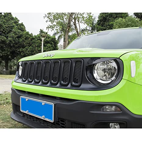Jeep Renegade rejilla de malla en color negro brillante 7pcs