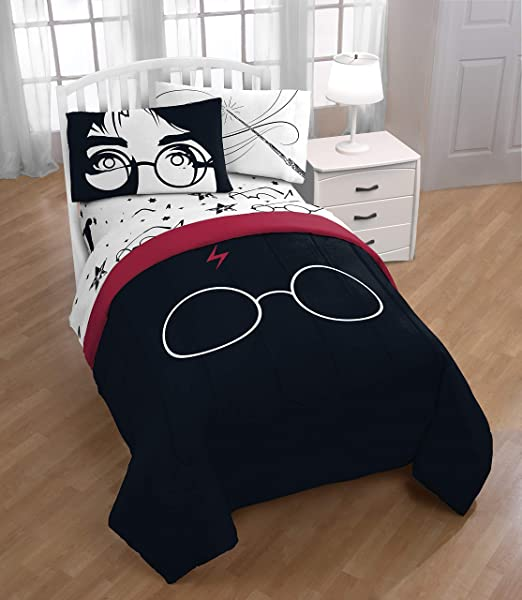 4 Piece Set Super Soft and Cozy Kid/'s Bedding Features Hogwarts Houses Official Harry Potter Product Jay Franco Harry Potter House Pride Full Sheet Set Fade Resistant Microfiber Sheets