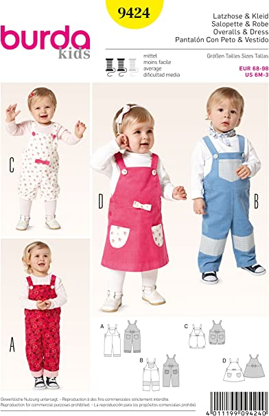 Child Dress and Romper Sewing Pattern Burda 4572 Size 12Mo to 4