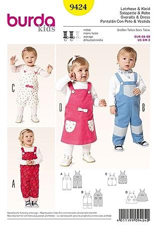 Burda Schnittmuster Latzhose & Kleid 9424: Amazon.de: Küche & Haushalt