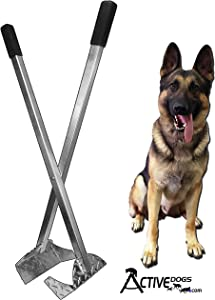 Activedogs Best Ever Dog Poop Scooper - New Solid Bolt System - All Aluminum Design Heavy Duty & Durable Waste Removal Shovel Scoop Tool or Bucket - Built to Last - Made in The USA