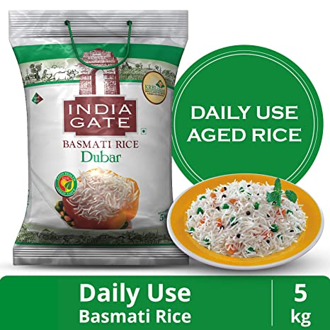 India Gate Basmati Rice, Dubar, 5kg