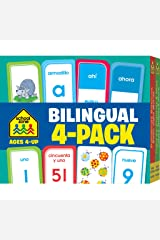 School Zone - Bilingual Spanish/English Flash Cards 4 Pack - Ages 4+, Preschool to Kindergarten, ESL, Language Immersion, ABCs, Sight Words, and More ... Edition) (English and Spanish Edition) Mass Market Paperback