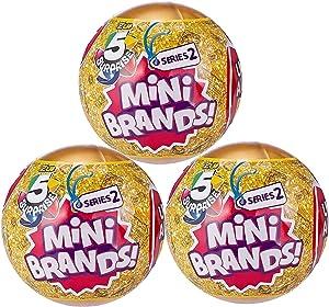 5 Surprise Mini Brands Series 2 by Zuru - 3 Ball Bundle