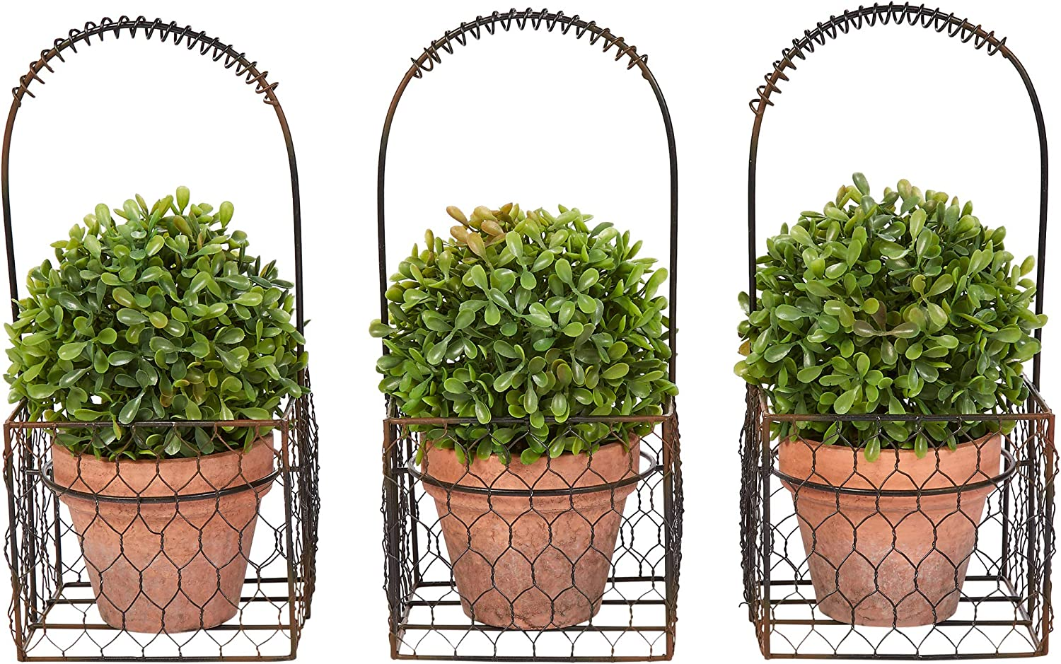 Home Pure Garden Faux Boxwood– 3 Matching Realistic 9.5