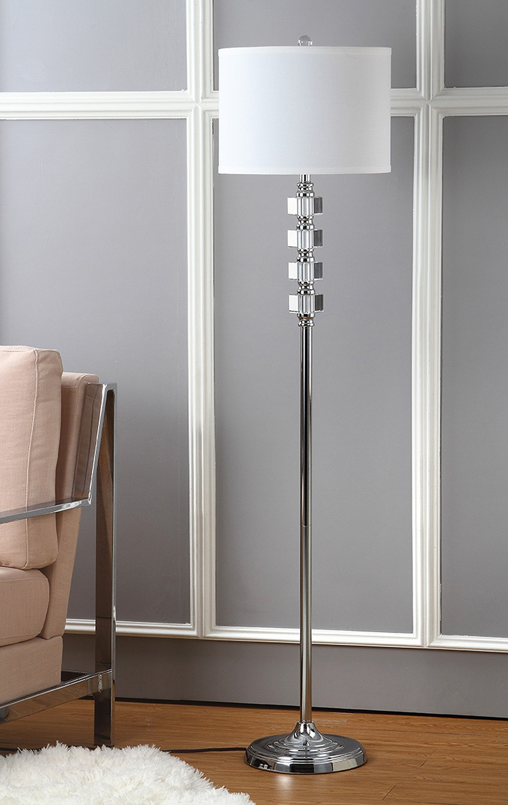 Safavieh Lighting Collection Lombard Street Clear 60.25-inch Floor Lamp by Safavieh