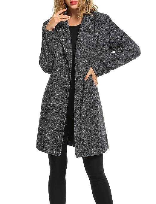 Amazon.com: Zeagoo Abrigo de invierno para mujer, casual ...