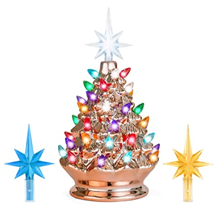 d371fdc207c Amazon.com  Best Choice Products 9.5in Pre-Lit Hand-Painted Ceramic Tabletop  Artificial Christmas Tree Festive Holiday Decor w Lights