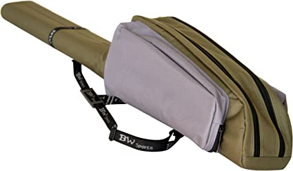 BW Sports Dual Fly Rod /& Reel Case for 4-Piece Fly Rods RC-2004 10 ft.
