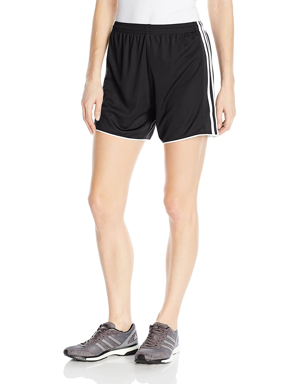AdidasレディースサッカーTastigo 17 Shorts B01HPQZJ7A Large|ブラック/ホワイト ブラック/ホワイト Large