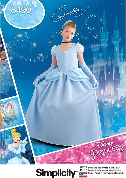 Simplicity 8490Pattern 8490 - Disfraz de Cenicienta para niños y ...