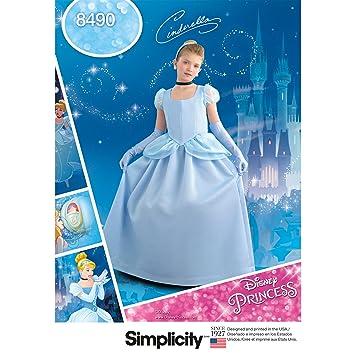 Simplicity 8490 Muster 8490 Kinder und Mädchen Aschenputtel-Kostüm ...