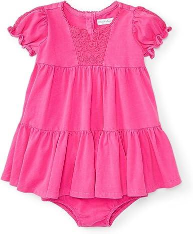 size 6 months RALPH LAUREN Baby Girls/' Adorable Pink Jersey Shorts