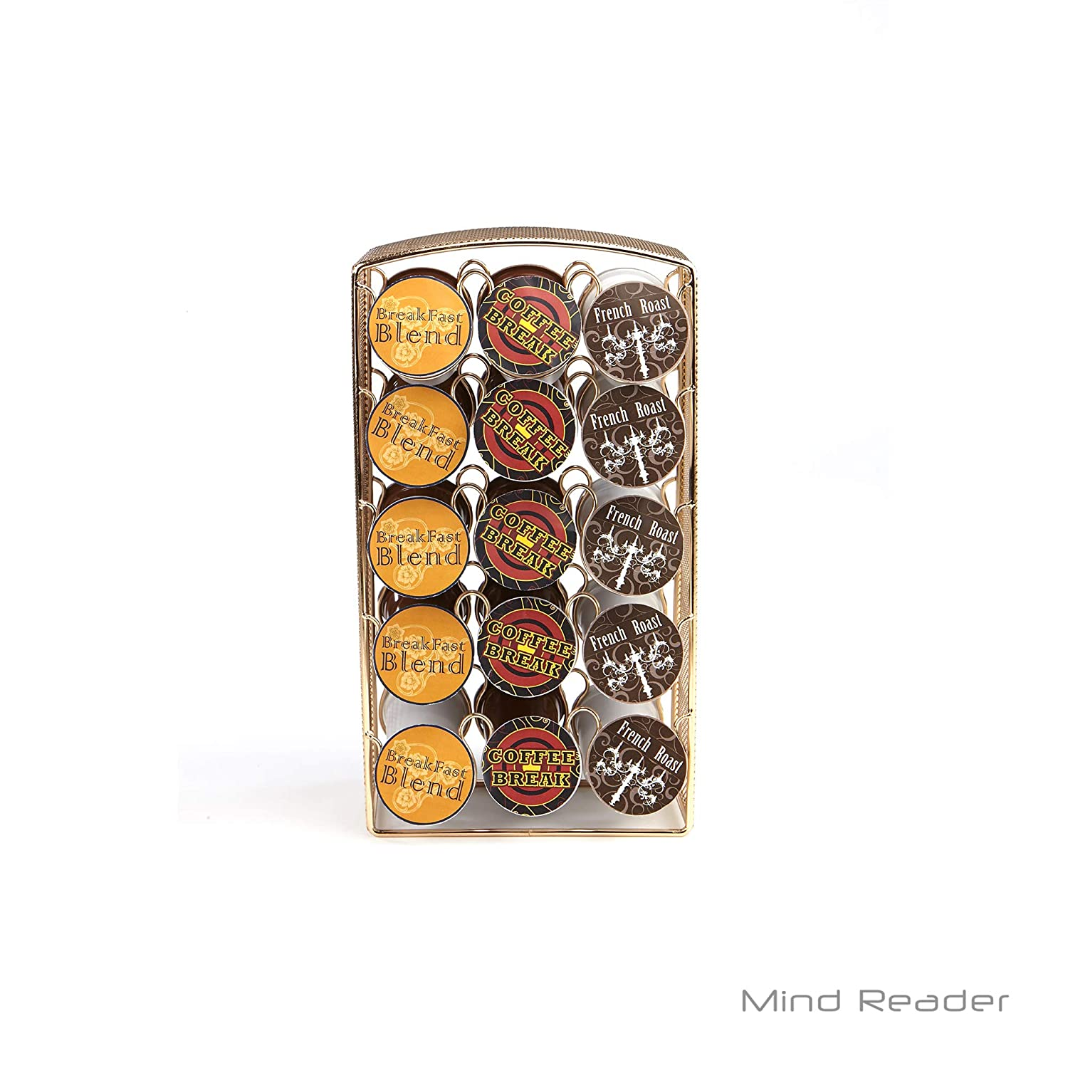Mind Reader CRSMESH-BLK K-Cup Carousel, Holds 30 K-Cups, Coffee Pod Holders, Black Metal Mesh