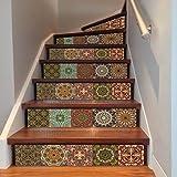 YIZUN 6Pcs DIY Steps Sticker Removable Stair Sticker Home Decor 18x100cm