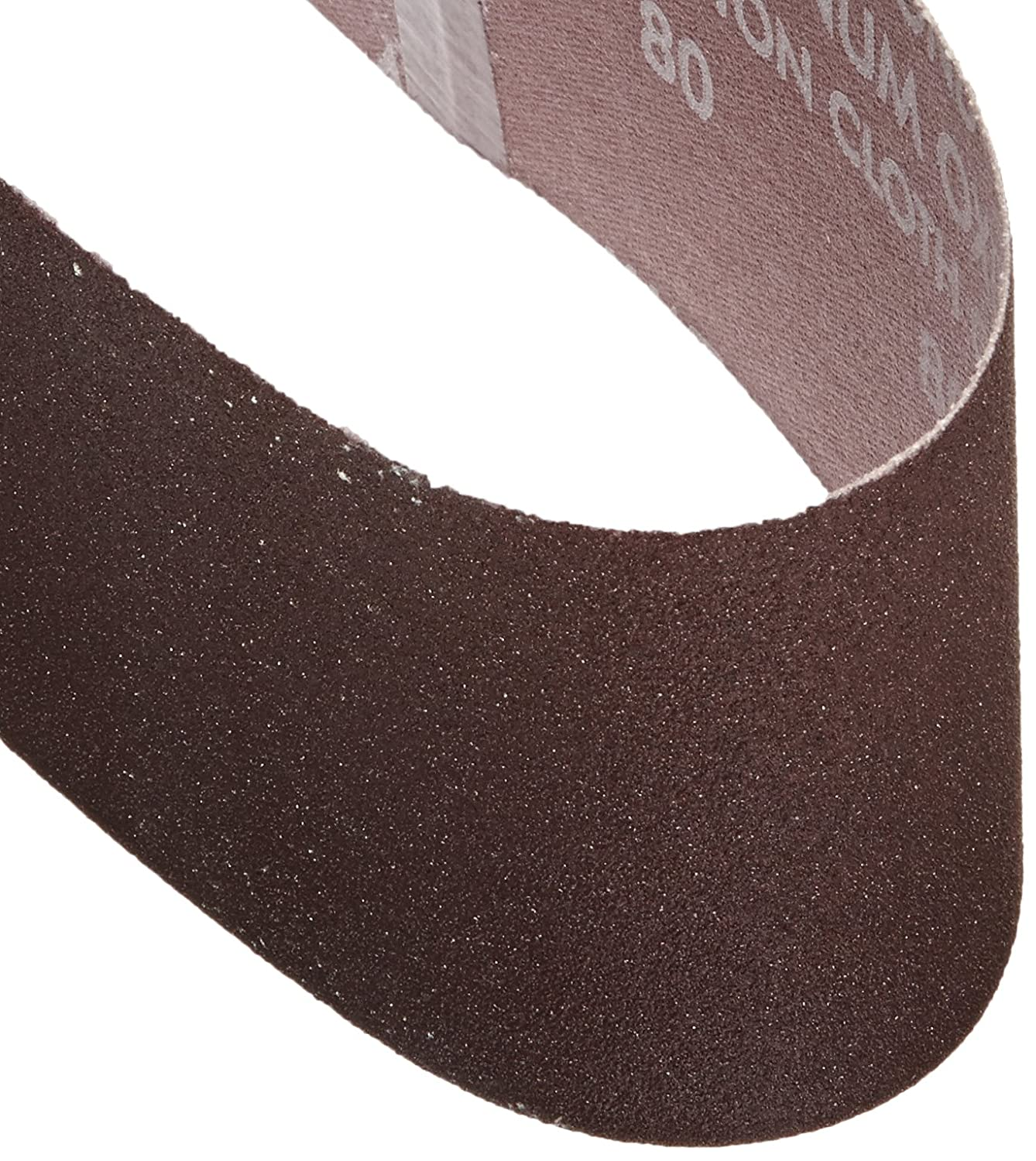Norton 3X High Performance Portable Belt, Aluminum Oxide, 21' Length x 3' Width, Grit 80 Medium (Pack of 5) 21 Length x 3 Width SAIX7 02064