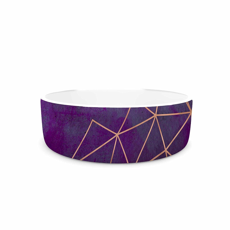 7\ KESS InHouse Cafelab Watercolor Storm  Purple gold Pet Bowl, 7