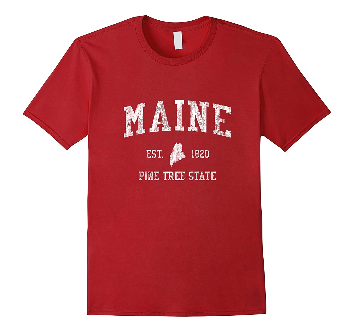 Retro Maine T Shirt Vintage Sports Tee Design-BN