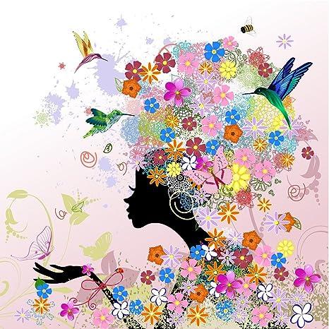Flower Power - Bonita Primavera tarjeta o tarjeta de ...