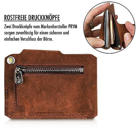 19904d4c5e184 Coinkeeper® Mini Geldbeutel aus exklusiv Echt-Leder - Geldbörse Herren klein  mit Münzfach - Schlankes Slim Wallet für Männer - Mini Wallet für Herren   ...