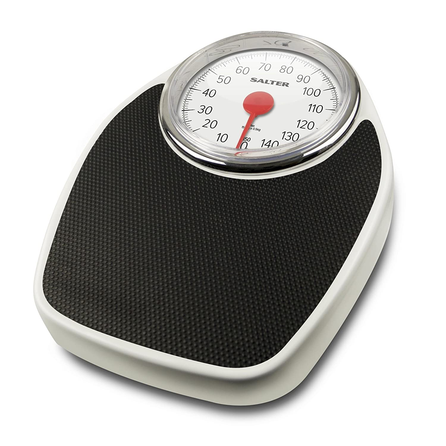 Salter Doctor Style Mechanical Bathroom Scales – Retro White + Black Accurate Weighing, Easy to Read Analogue Dial, Sturdy Metal Platform, Weigh up to 150 kg, No Buttons or Batteries, Hassle Free FKA Brands Ltd 195 WHKR