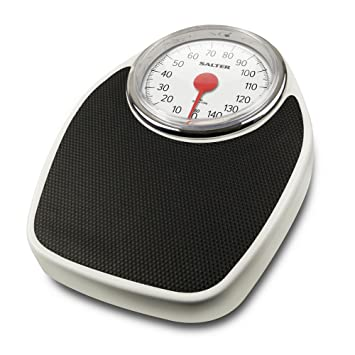Salter Doctor Style Mechanical Bathroom Scales U2013 Retro White + Black  Accurate Weighing, Easy To