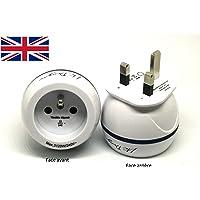Adaptateur De Voyage France Vers Grande Bretagne GB / Angleterre / UK - Gamme Bulle- BB0165 - LTE Design - Leach Travel Europe