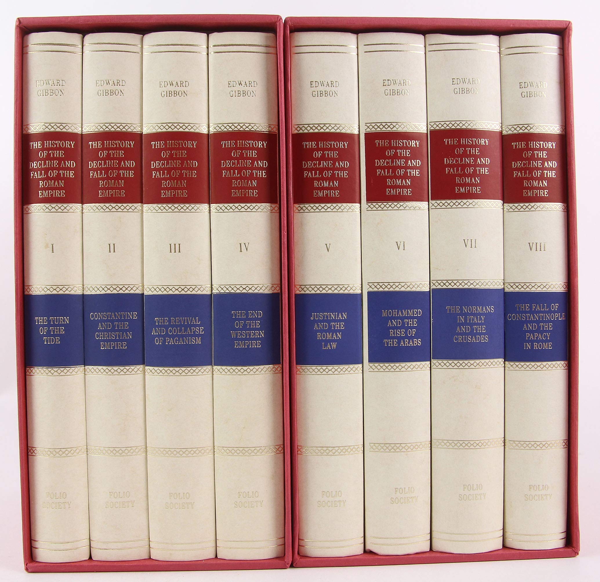 The History of the Decline and Fall of the Roman Empire (8 Volumes Set):  Edward Gibbon, Betty Radice: Amazon.com: Books