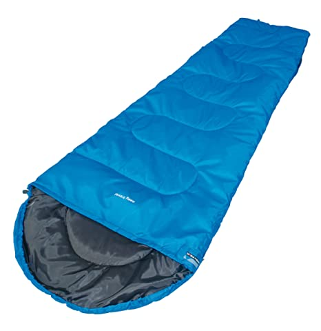 High Peak Easy Travel - Saco de Dormir Momia para Acampada, Color Azul, Talla