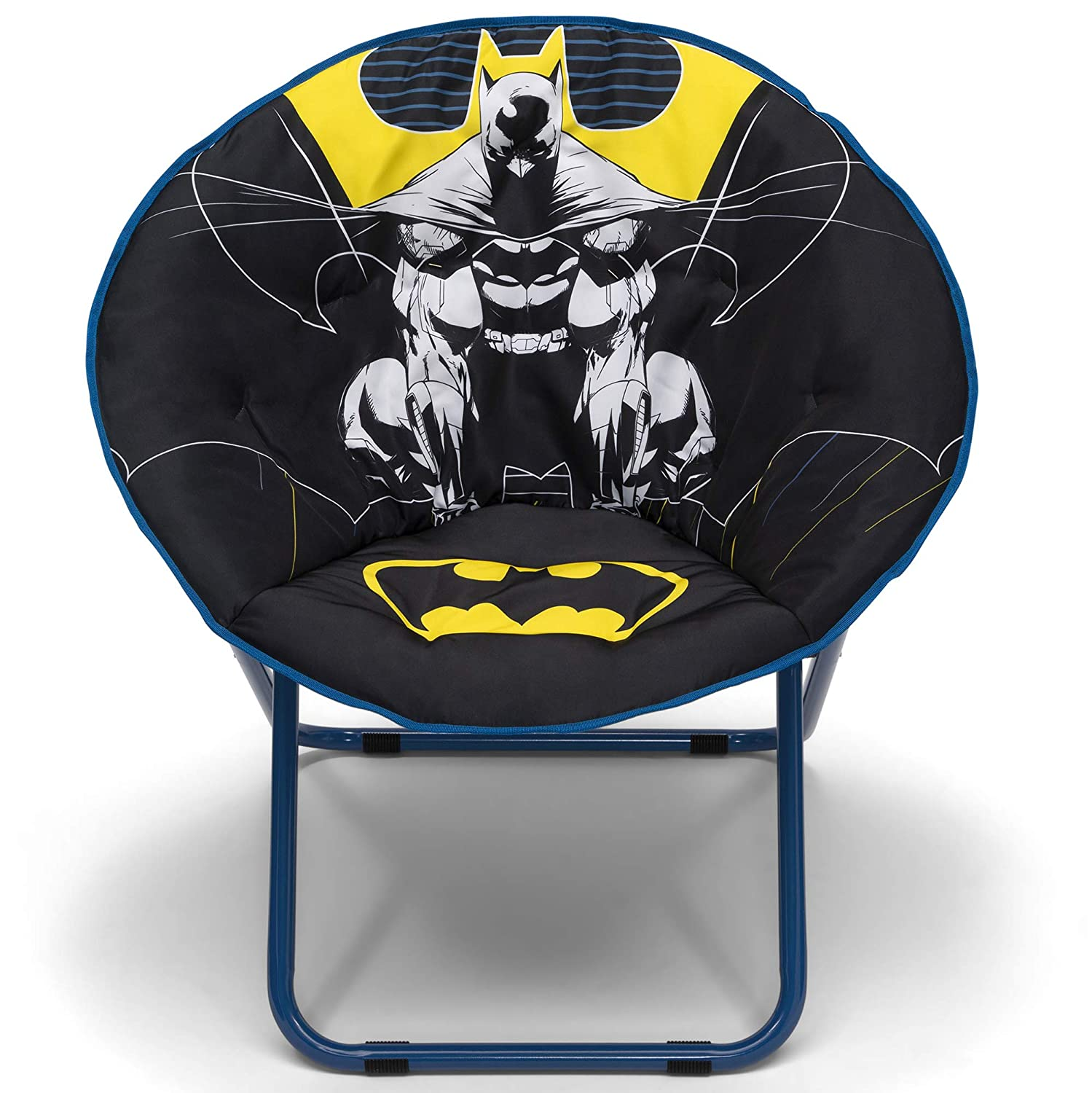 Delta Children Saucer Chair for Kids/Teens/Young Adults, Batman