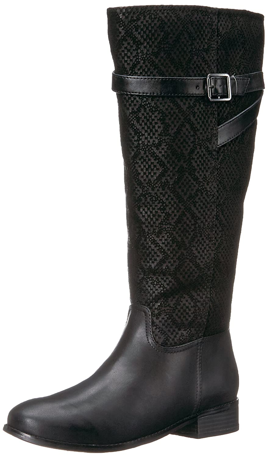 Trotters Women's Lyra Wide Calf Riding Boot B01NGYJPSV 6 2W US|Black