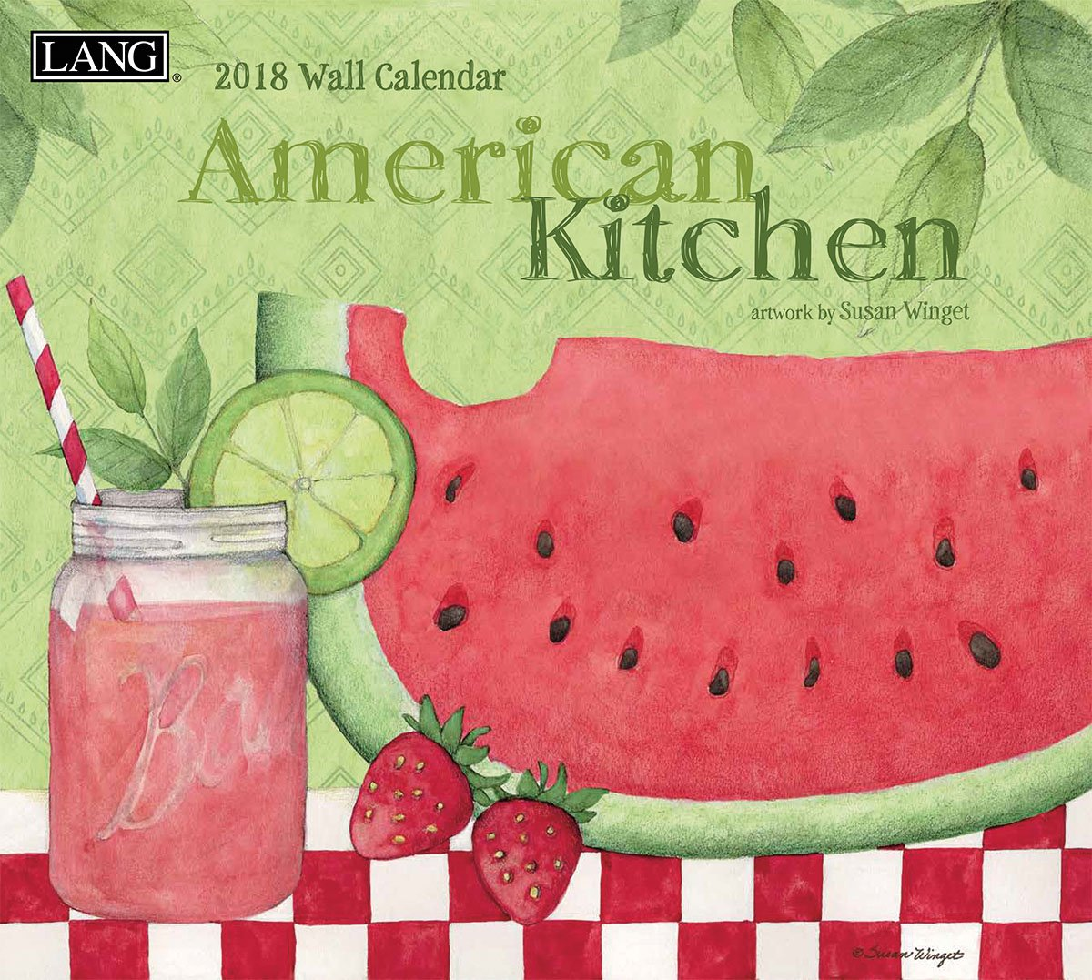 "Amazon.com : LANG - 2018 Wall Calendar - ""American Kitchen"" - Artwork by  Susan Winget - 12 Month - Open Size, 13 3/8"" X 24"" : Office Products"
