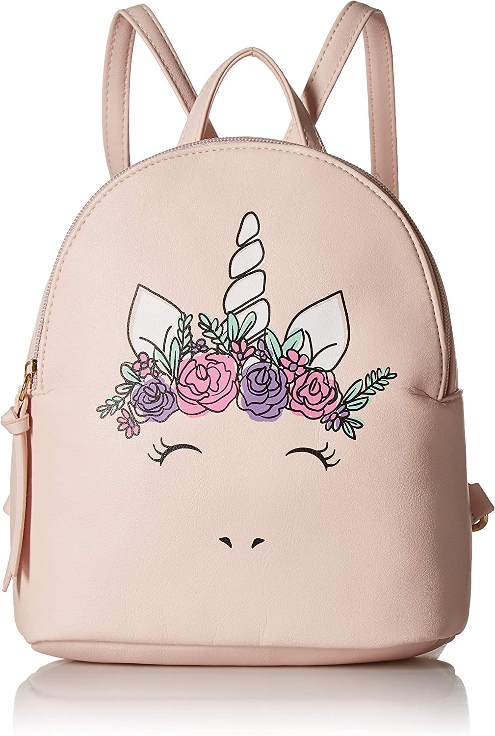 T-Shirt Jeans Womens Flower Crown Unicorn Backpack