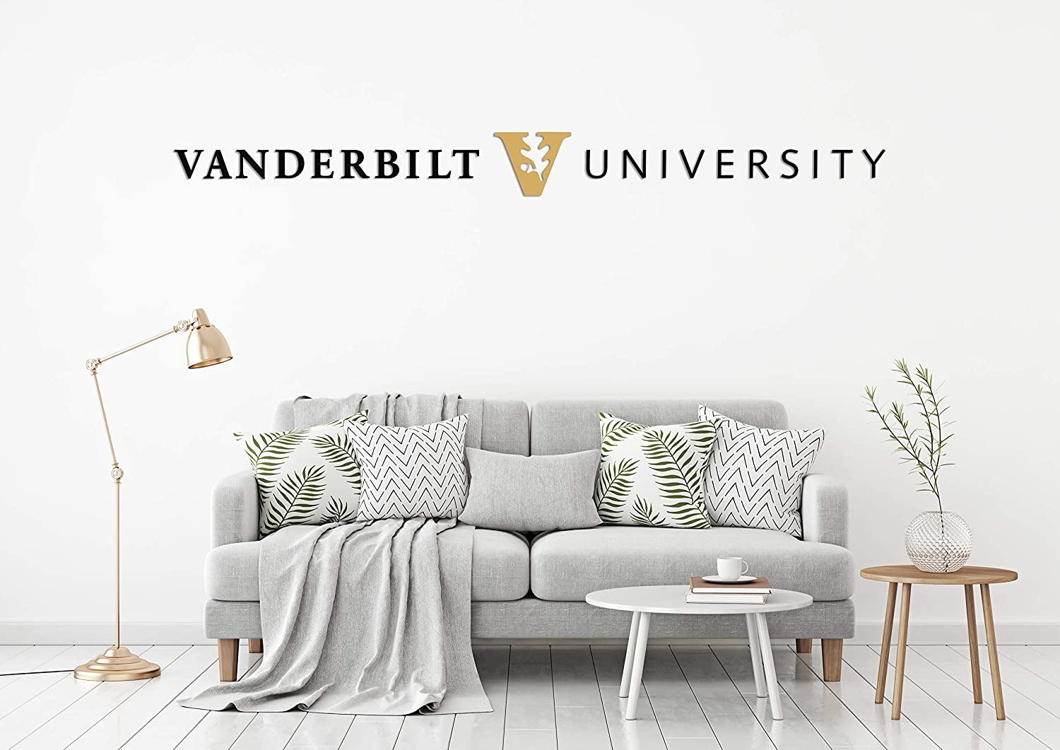 Vanderbilt University Peel and Stick Wall Decal Sticker Removable and Reusable for Home (Wide 30