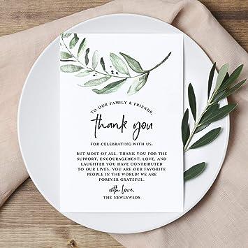 Amazon.com: Bliss Collections Greenery Wedding - Tarjetas de ...