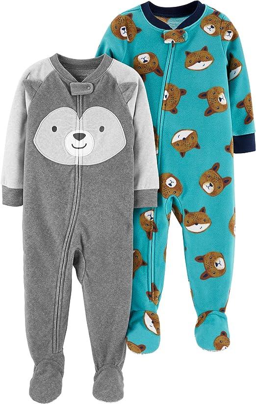Carters Baby Girls 1-Piece Fleece PJs Winter Bear 24M